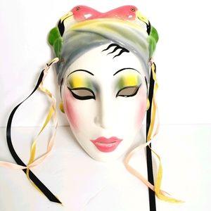 Vintage About Face Flamingo Lady Ceramic Mask Glam